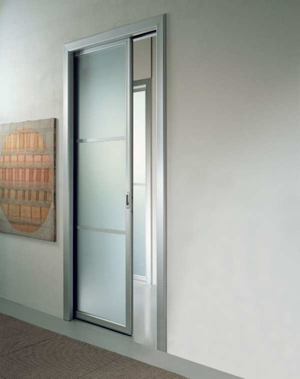 Frosted Glass Pocket Doors
